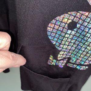 PLAYBOY Tops - Playboy thin hoodie iridescent bunny long sleeve M